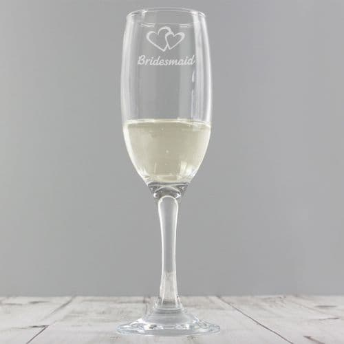 Bridesmaid Single  Champagne Flute Gift