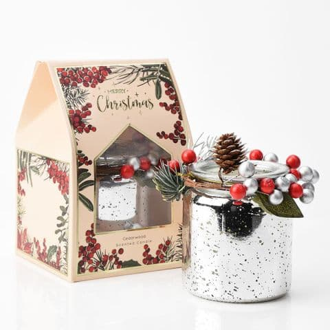 Christmas Cedarwood Scented Candle Home Fragrance Gift