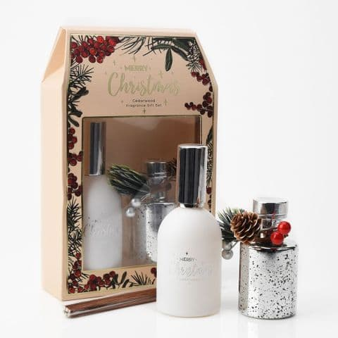 Christmas Reed Diffuser & Room Spray Home Fragrance Gift Set