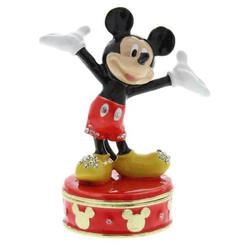 Classic Disney Mickey Mouse Collectable Trinket Box - Disney Gifts