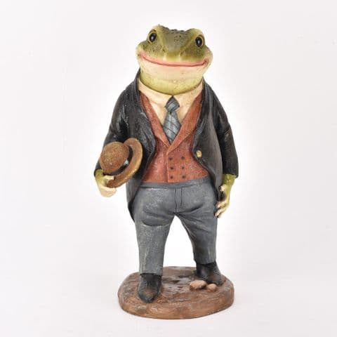 Country Cottage Mr Toad Garden Ornament Dressed In Smart Suit