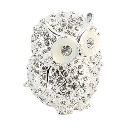 Luxury Crystal Owl Trinket Box keepsake makes a wonderful table gift and favor for graduation and special occassions