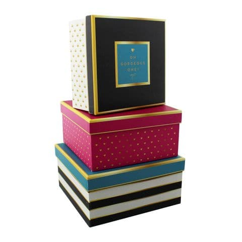 Decorative Storage Boxes Set Of Three Office and Home Storage Solutions