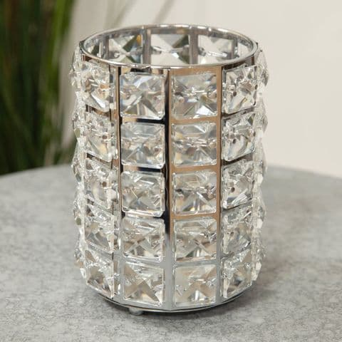 Diamante Crystal Candle Holder Large