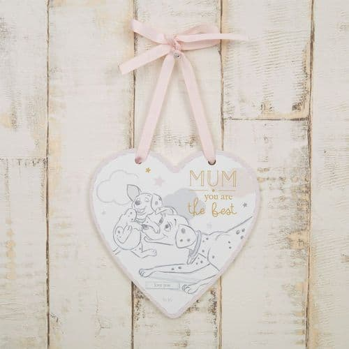 Disney 101 Dalmations  Heart Shaped Hanging Plaque Gift For Mum