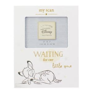 Disney Baby Scan Photo Frame - Bambi 'Waiting For Our Little One' Scan Picture Frame