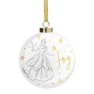 Disney Belle Luxury Ceramic Christmas Bauble Collectable Gift