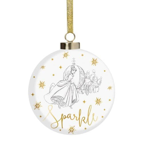 Disney Cinderella Luxury Ceramic Christmas Bauble Collectable Gift