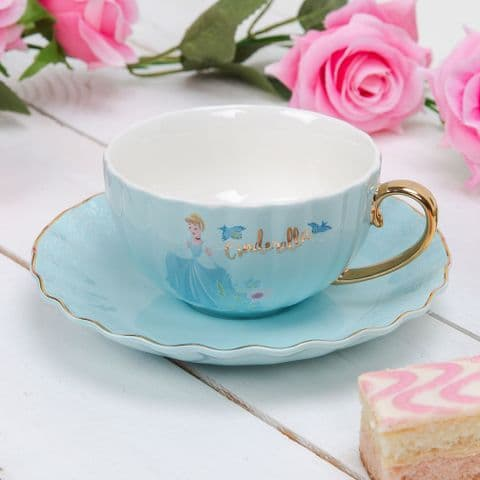 Disney Cinderella Pale Blue Teacup and Saucer Collectable Gift