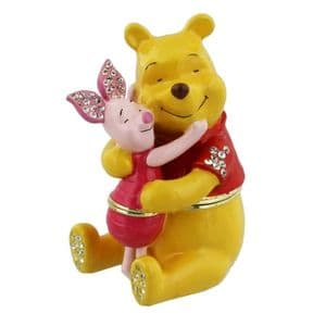Disney Collectable Trinkets Present Pooh and Piglet - Winnie The Pooh Gift and Cake Topper