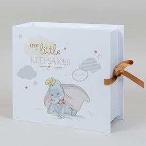 Disney Dumbo Baby's Keepsake Box - Magical Beginnings Dumbo Keepsake Box Gift