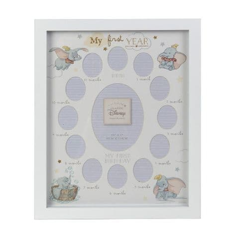 Disney Dumbo My First Year Multi Aperture Photo Frame Gift For Baby