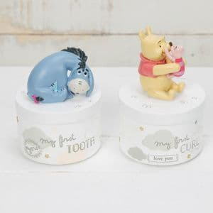 Disney Eeyore and Winnie The Pooh First Tooth First Curl Boxes Baby Gift