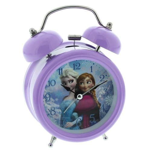 Disney Frozen Elsa & Anna Lilac Children's Alarm Clock Bedroom Accessory