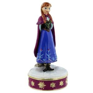 "Disney Frozen Official Licensed ""Anna"" Trinket Box Ornament and Cake Topper"