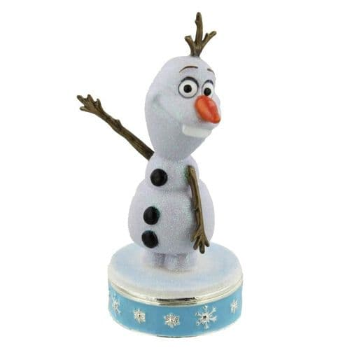 "Disney Frozen ""Olaf"" Collectable Trinket Box - Disney Olaf Cake Topper & Keepsake"