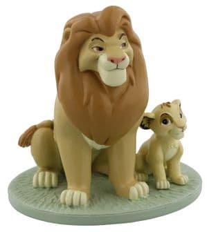 Disney Lion King Mufasa and Simba Collectable Figurine Ornament Magical Moments Gift