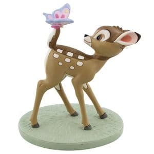 Disney Magical Moments Collectable Figure Bambi and Butterfly Ornament Gift 'Dreams and Wishes'