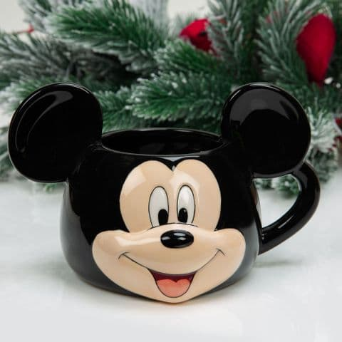 Disney Mickey Mouse Christmas Mug 3D Cute Mug In Christmas Gift Box