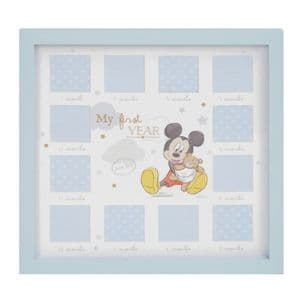 Disney Mickey Mouse 'My First Year' Photo Frame Gift For Baby Boy
