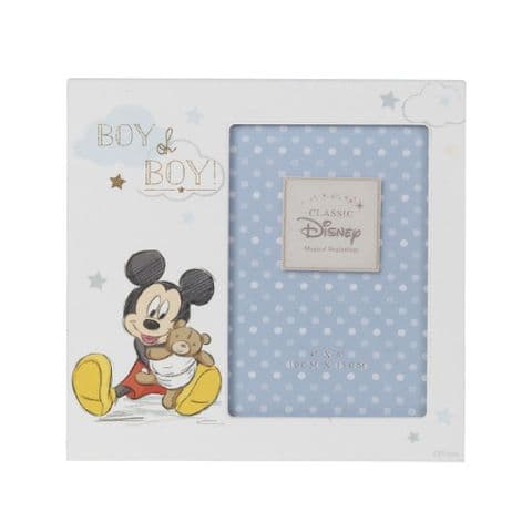 Disney Mickey Mouse Photo Frame Gift for new baby boy