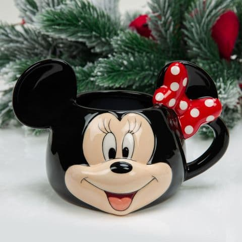 Disney Minnie Mouse 3D Christmas Mug  Cute Mug In Christmas Gift Box