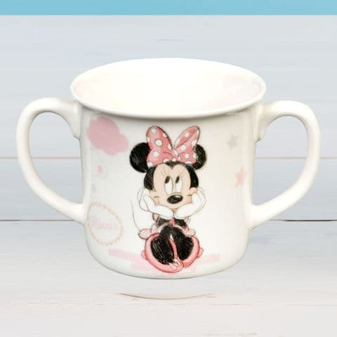 Disney Minnie Mouse Baby Girl Twin Handle Cup Gift
