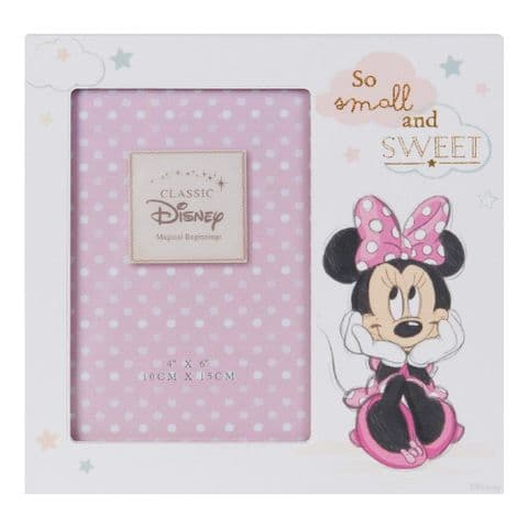 Disney Minnie Mouse Photo Frame Gift for new baby girl