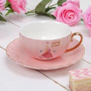 Disney Pale Pink Sleeping Beauty Teacup and Saucer Collectable Gift Aurora