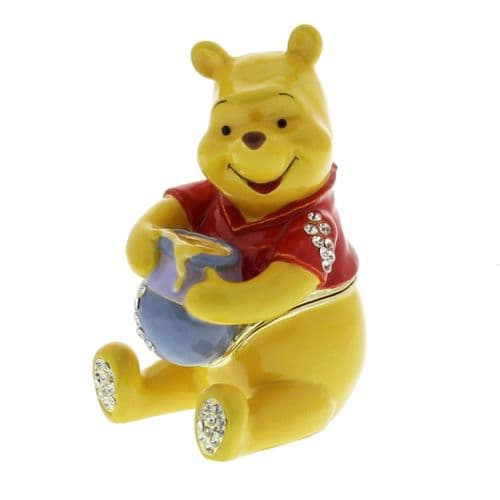 Disney Trinkets Collectable Figure - Winnie The Pooh Holding Honey Pot - Birthday and Baby Gift