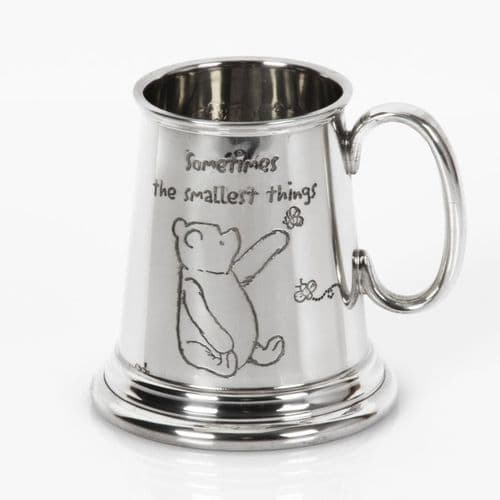 Disney Winnie The Pooh English Pewter Mini Tankard Christening Baby Keepsake Gift