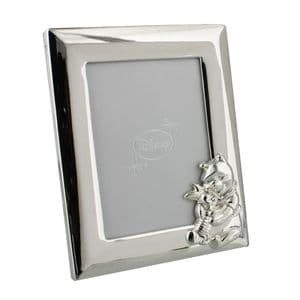 Disney Winnie The Pooh Silver Plated Photo Frame Christening New Baby Present