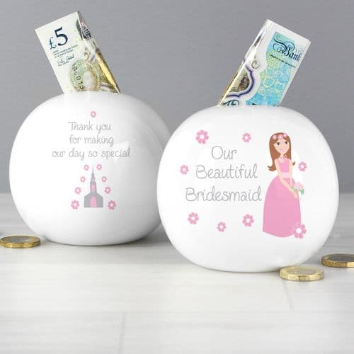 Fabulous Bridesmaid Money Box thank you gift for bridesmaid and flower girl