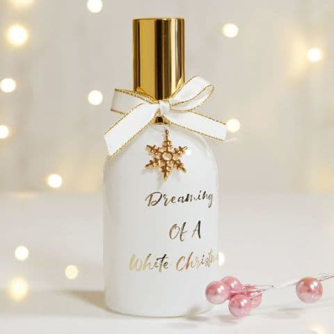 Fragranced Christmas Room Spray Winter Dream - Reusable Dreaming of a White Christmas Bottle