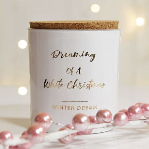 Fragranced Scented Christmas Candle Dreaming of a White Christmas