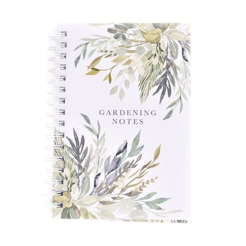 Gardening Notes Hardback Notebook Floral Gift For Gardeners