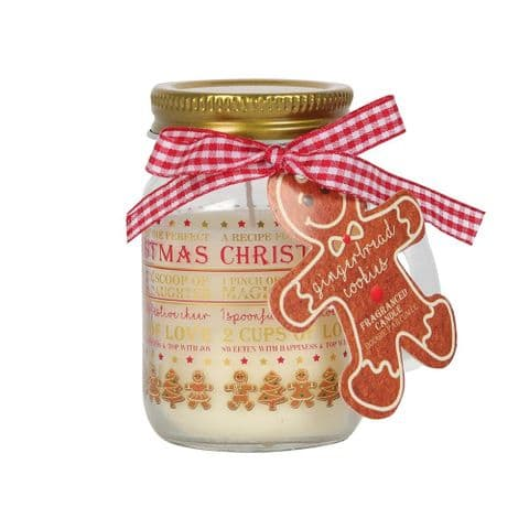 Gingerbread Cookie Mason Jar Scented Candle Christmas Gift