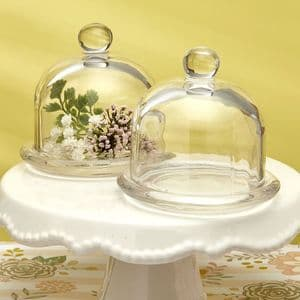 Glass Bell Jar Table Gift Favor Wedding Christmas Table Gift For Guests