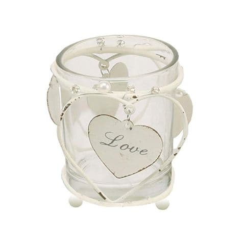 Glass  Love Candle Holder Table Decoration for, Wedding, Valentine, Engagements and Anniversary Gift