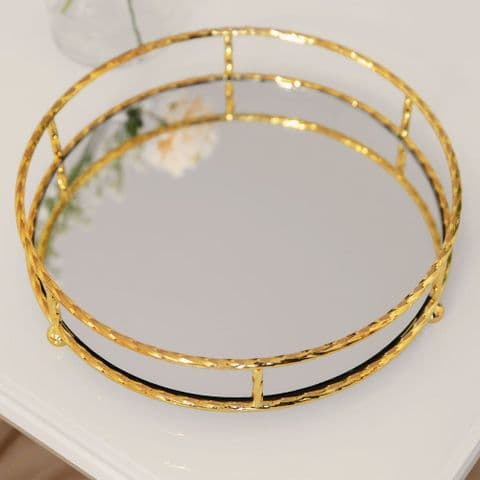 Gold Metal Mirrored Tray
