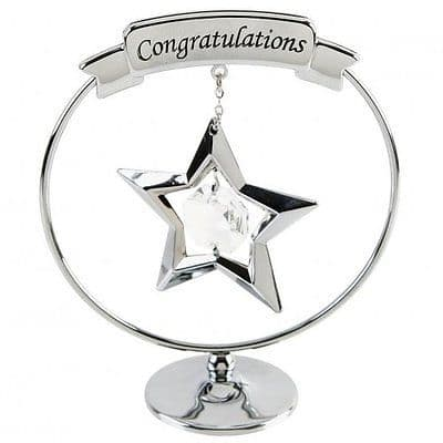 Graduation Cake Topper - Crystocraft 'Congratualtion' ornament for cakes or keepsake Swarovski Crystal Caketopper
