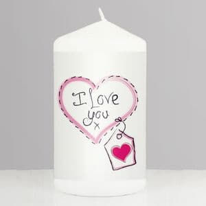Heart Stitch - I Love You Candle Gift For Valentines Day