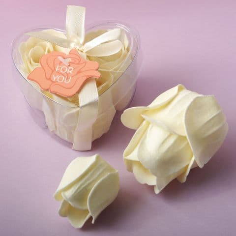 Ivory Rose Soap Flower Table Gift Favor