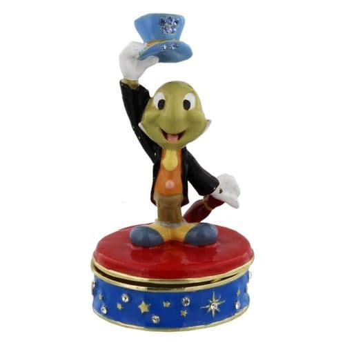 Jimmy Cricket Disney Collectable Figure Trinket Box - Pinocchio Gift