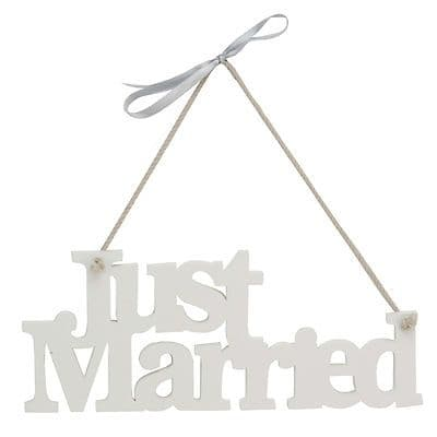 Just Married Sign - Wooden Plaque 'Just Married' Sign - Wedding Decoration Gift