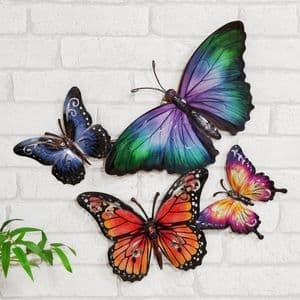 Kaleidoscope Butterfly Metal Wall Art Ornament For Home & Garden