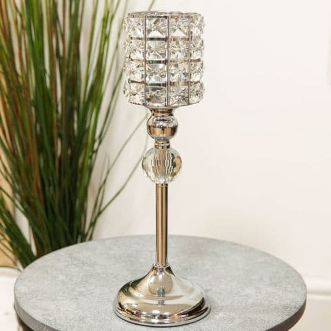 Luxury Crystal Goblet Style Candle Holder Small