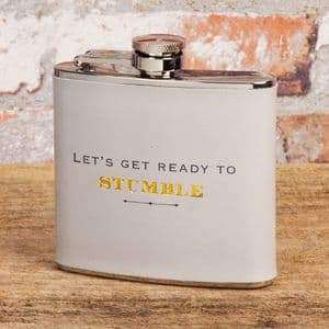 Mens 5oz Hip Flask in Gift Box - Humorous Hip Flask Gift For Men