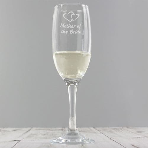 Mother of the Bride Single Champagne Flute Gift Wedding Party