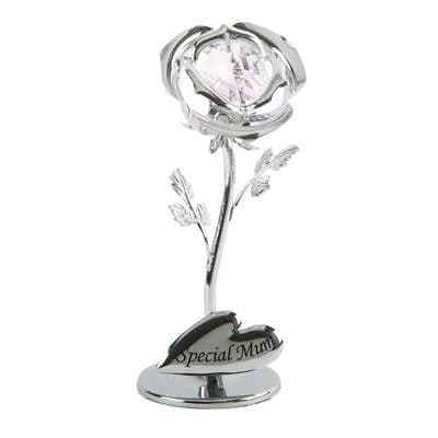 Mothers Day Gift - Crystal Rose Special Mum - Mum Crystocraft Rose